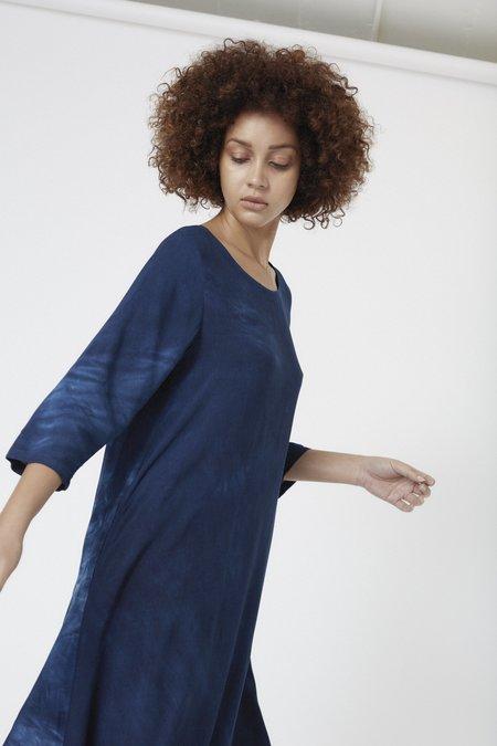 Osei-Duro Nima Dress - Natural Indigo