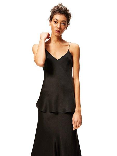 Nili Lotan Isabella Silk Cami Top - Black