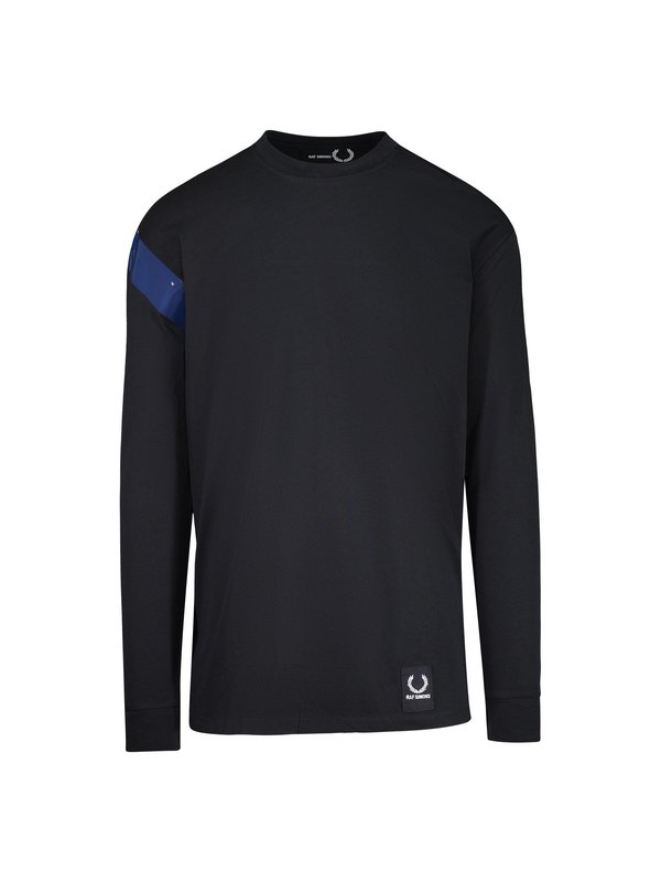 48d5e711 Raf Simons X Fred Perry Long Sleeve Tape Detail T-Shirt. sold out. RAF  SIMONS