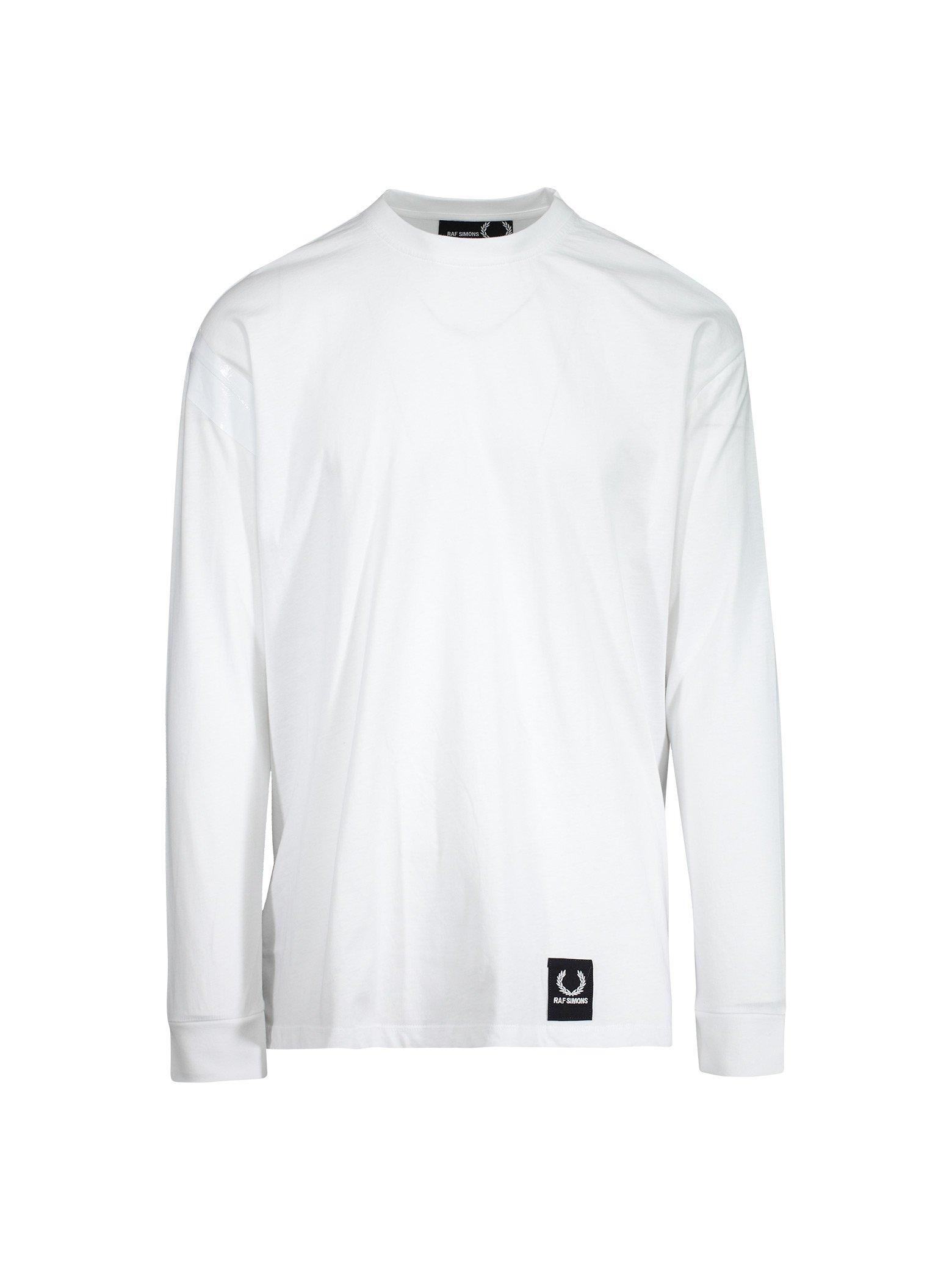 8f7f1e9b9d51 Raf Simons X Fred Perry Long Sleeve Tape Detail T-Shirt - White ...