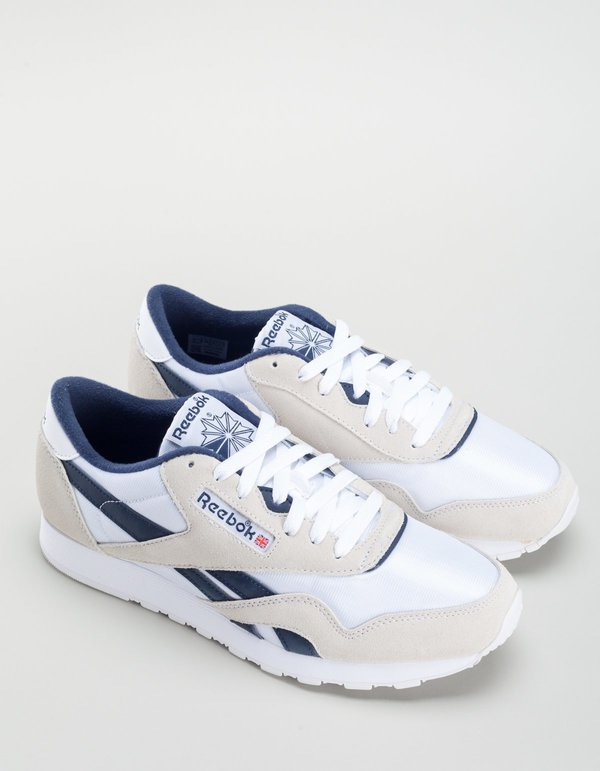 Reebok Classic Nylon - Archive White Collegiate Navy  be810dd6a
