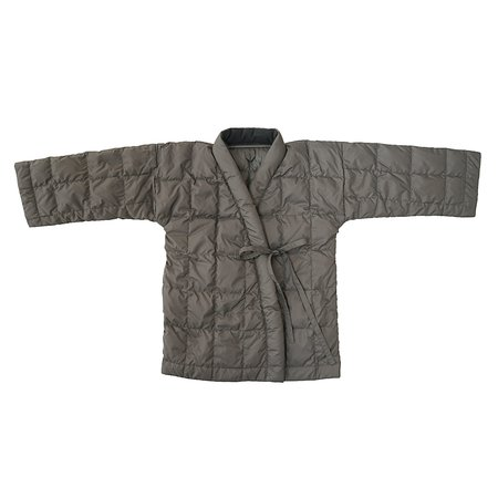 KIDS Tambere Quilted Down Overcoat - Khaki Grey