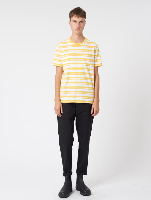 c04cc985194c0d Pop Trading Company Stripe Tee - YELLOW WHITE