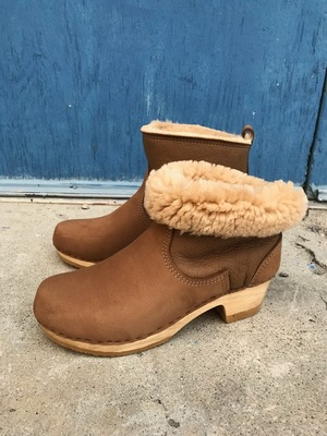 "No.6 5"" Pull On Shearling Boot On Mid Heel"