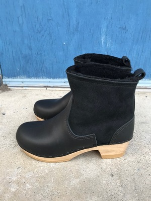 """No.6 5"""" Pull On Shearling Boot On Mid Heel"""
