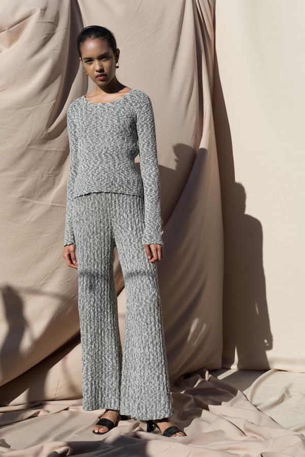 Pari Desai Marled Dani Ribbed Sweater