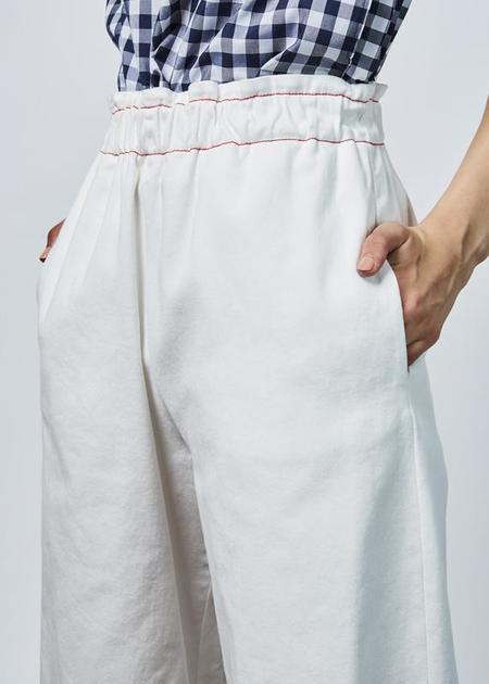 AVN Pull-Up Twill Pant - white