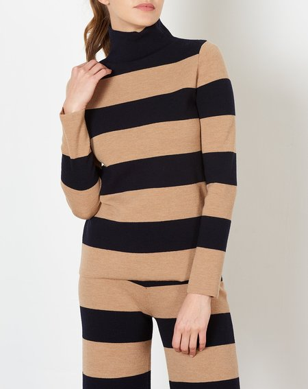 Demy Lee Molly Top - Navy/Camel