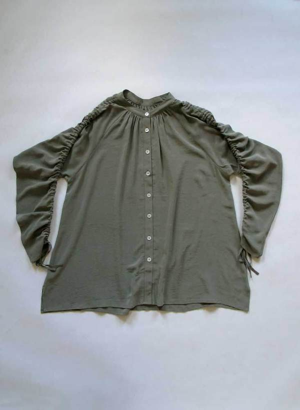 3626cf737c919 Seek Collective Etta Silk Shirt - Olive. sold out