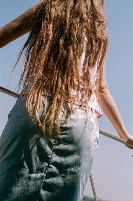 Super Yaya Marie Skirt - Bazin Gray