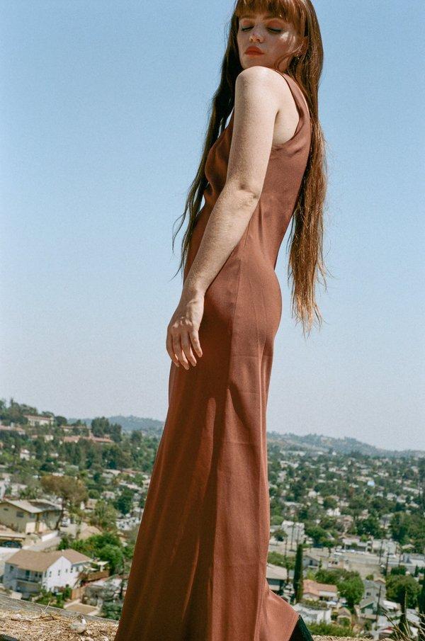 NOMIA Bias Tank Gown - Clay