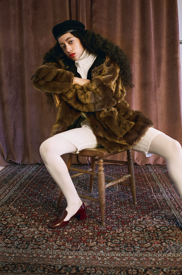 Suzanne Rae Hooded Faux Fur Coat
