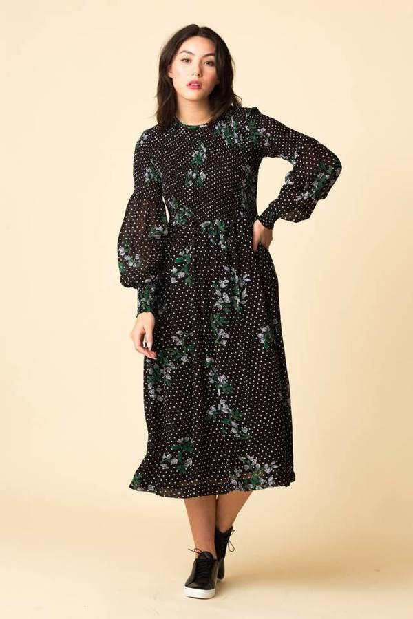 59c89c67 Ganni Rometty Georgette Smock Dress | Garmentory
