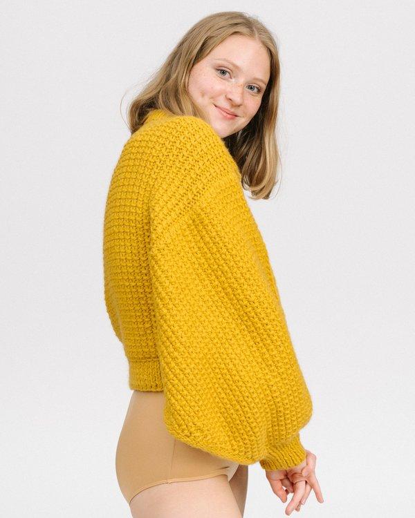I Love Mr Mittens Jackie Sweater - Mustard