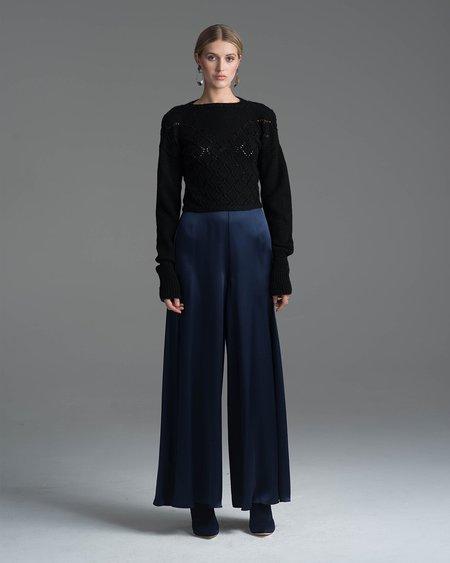 VOZ Apparel Diamante Merino Sweater - Black