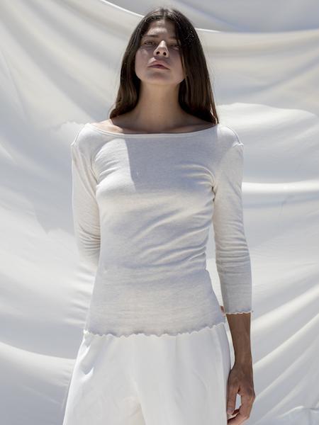 Ozma Pima Cotton Jersey Ballet Top