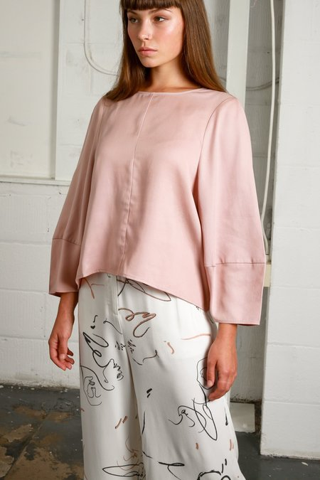Native Youth Oxford Blouse - Dusty Pink