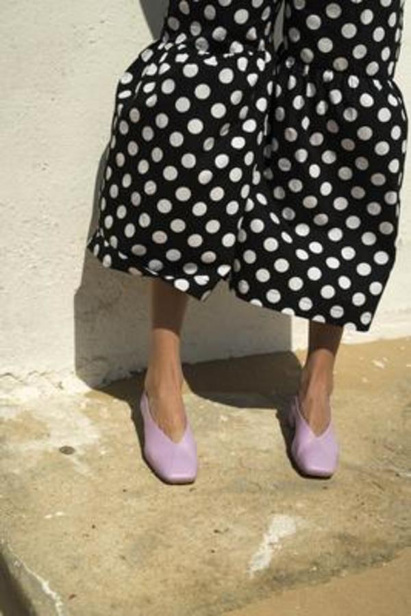 House of Sunny Fit Flare Trousers - Polka Dot