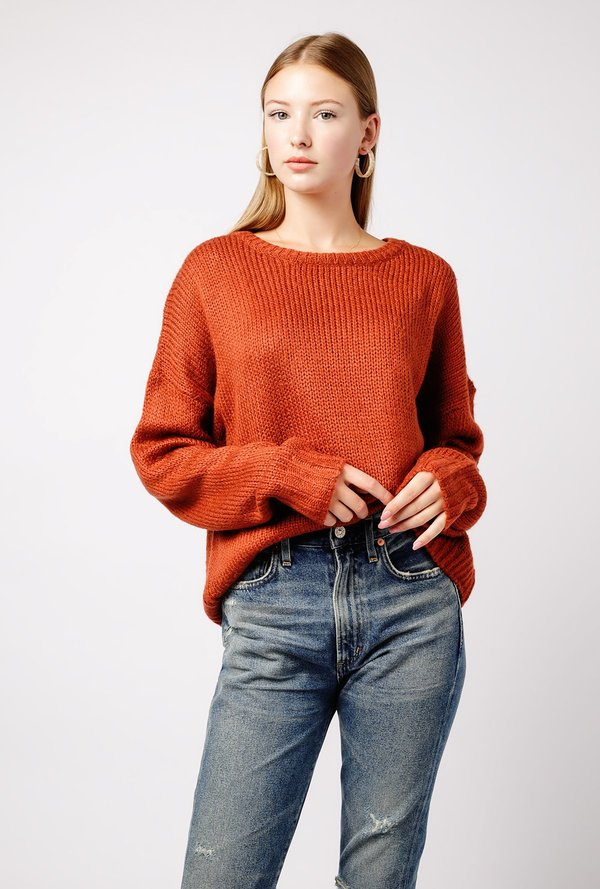 Super Azalea Oversized Knit Sweater - BROWN | Garmentory &IT07