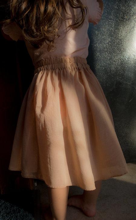 KIDS Petit Mioche semi-sheer skirt - adobe