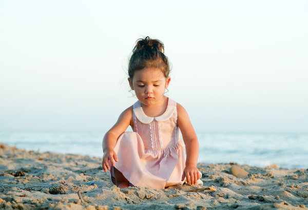 KIDS Petit Mioche peter pan collar dress - light pink