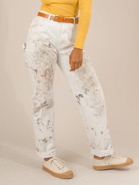 vintage SHOP BOSWELL PAINTER PANTS - white/paint splatter