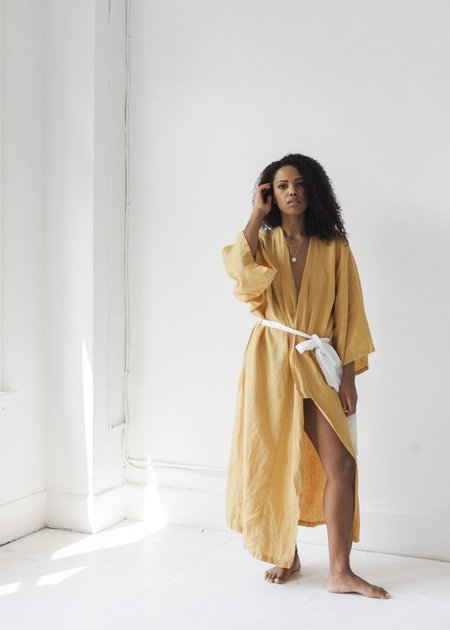 Deiji Studios The 02 Full Length Robe - Mustard