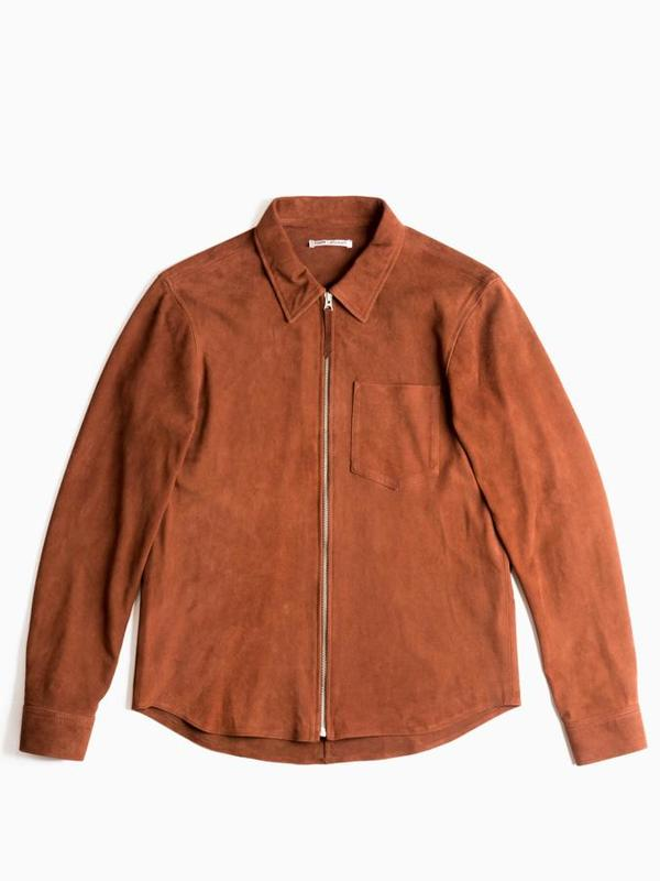 7fbcf34b6941 Our Legacy Suede Zip Shirt - Brown