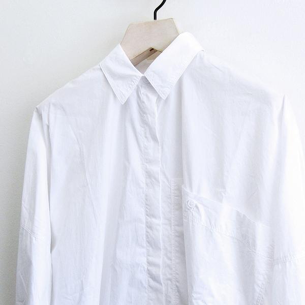 31c8239ebe Rundholz Black Label Cotton Shirt Dress - White