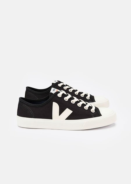 VEJA Black Pierre Wata Canvas Sneaker - black