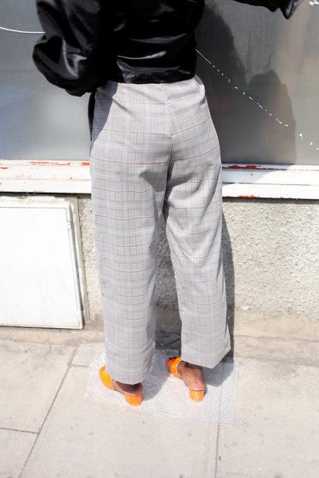 TOIT VOLANT Nicolas Slack Pants - Grey Plaid