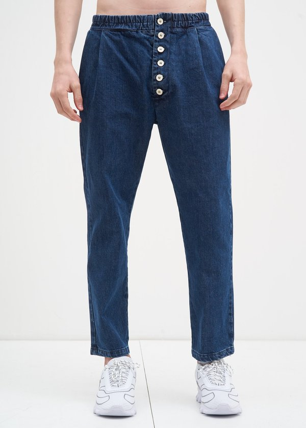 ce0670414d9d Sunnei Washed Elastic Pants w  Buttons - DENIM
