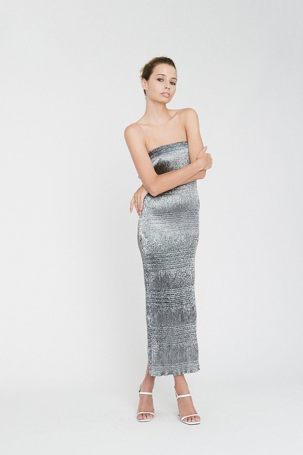 Georgia Alice Sublime Tube Dress - Silver. sold out