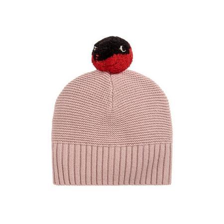 kids Stella McCartney Baby Ferret Knit Hat With Pompom - Pink