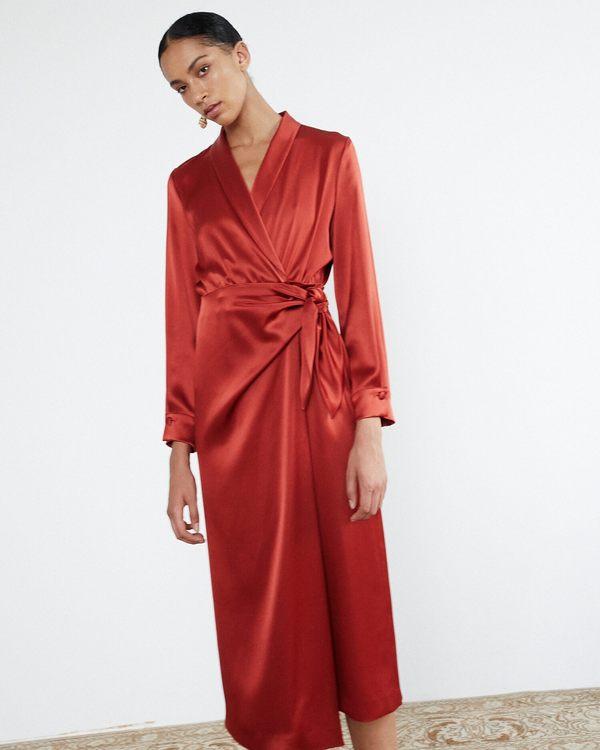 9d45c4fd25c Nanushka EZRA Satin wrap dress - Red. sold out