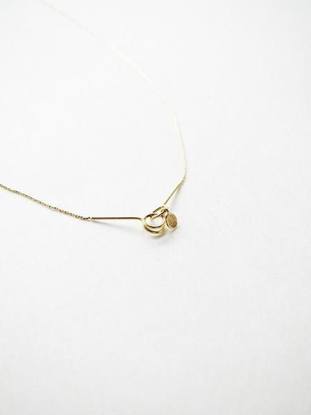 Saskia Diez Ultrafine Thread Necklace - Gold