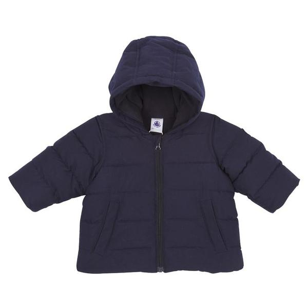 6745519d9 KIDS Petit Bateau Baby Winter Coat With Hood - Navy