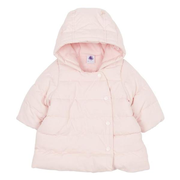 9168226e8e97ba KIDS Petit Bateau Baby Winter Coat With Hood - Pink | Garmentory