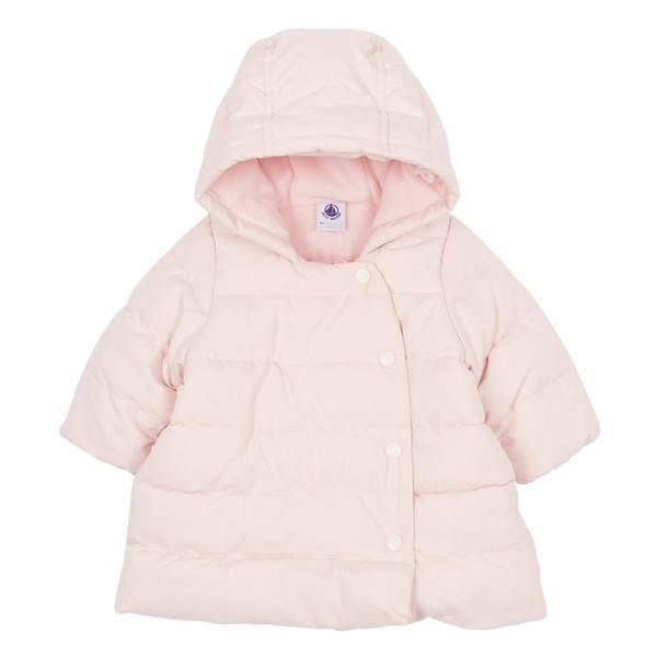 d7726e05e KIDS Petit Bateau Baby Winter Coat With Hood - Pink