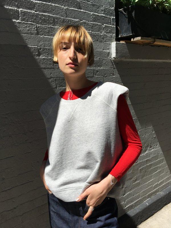 Smythe Shoulder Pad Raglan Sweatshirt