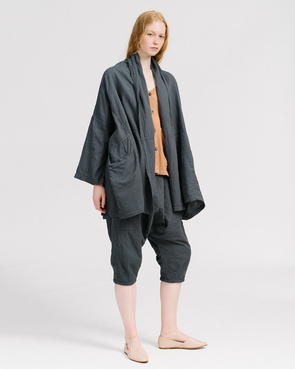 Atelier delphine haori coat - graphite
