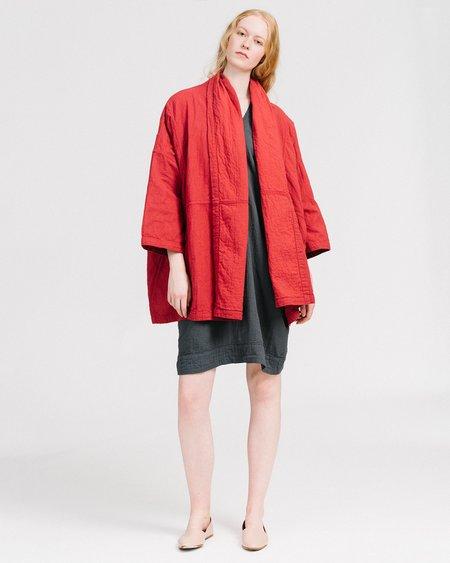 Atelier Delphine Haori Coat - Mahogany Red