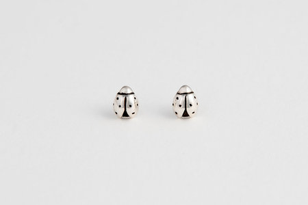 Muraco Wolfe Bug Studs - Sterling Silver