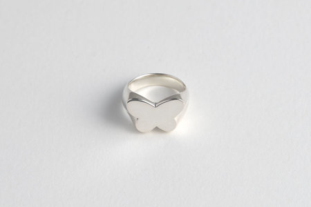 Muraco Wolfe Butterfly Signet Ring - Silver