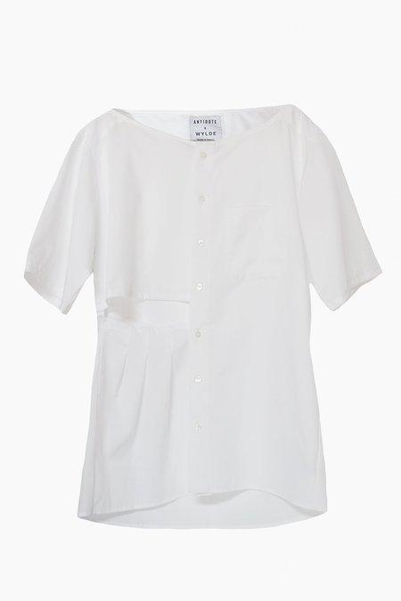 Antidote Pleated Shirt - White