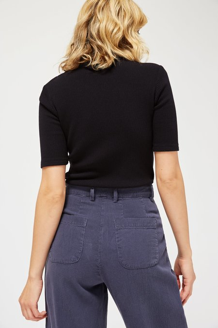 Lacausa Sweater Rib Mock Neck - Tar