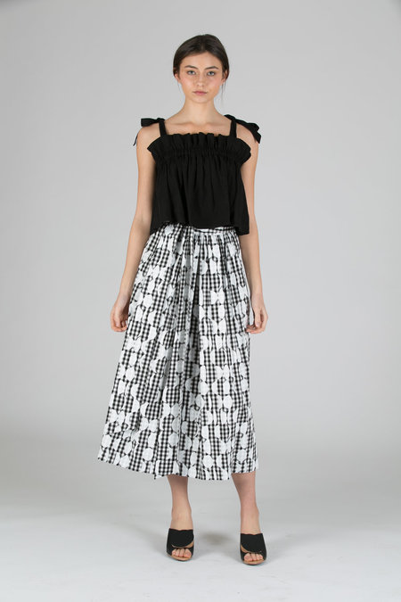 WHiT Kimani Skirt - BLACK/WHITE MOON