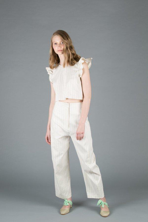 Creatures of Comfort Crescent Pant - NAVY STRIPE