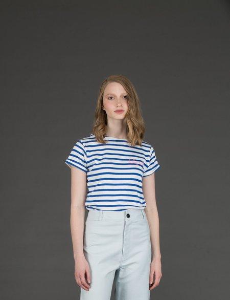 Maison Labiche Baby Doll Sailor Shirt - White/Blue