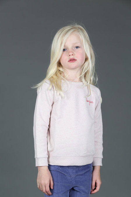 Kids Maison Labiche Bonjour Youth Sweatshirt - PINK